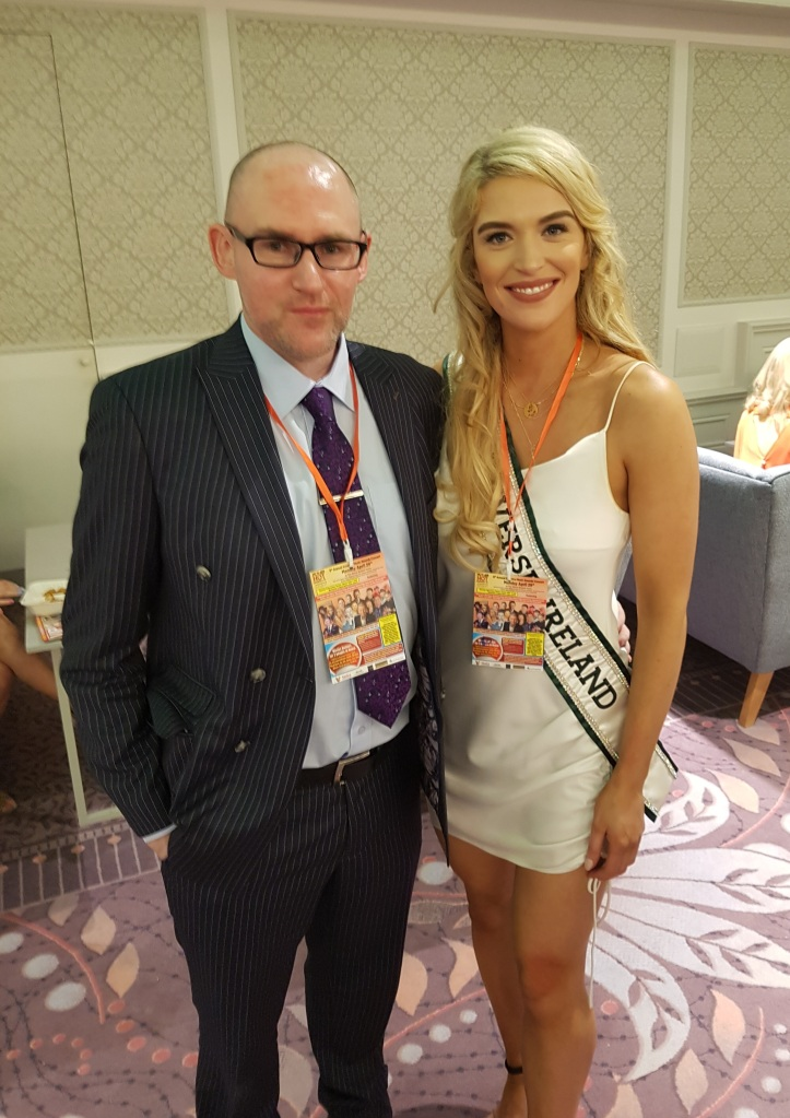 Anthony with Miss Universe Ireland 2018 Grainne Gallanagh, who also went on to become a finalist in the 2020 season of Dancing With The Stars Ireland.