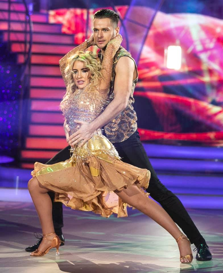 Cliona in action on Dancing With The Stars last weekend, on her way to the first 10 of the series!