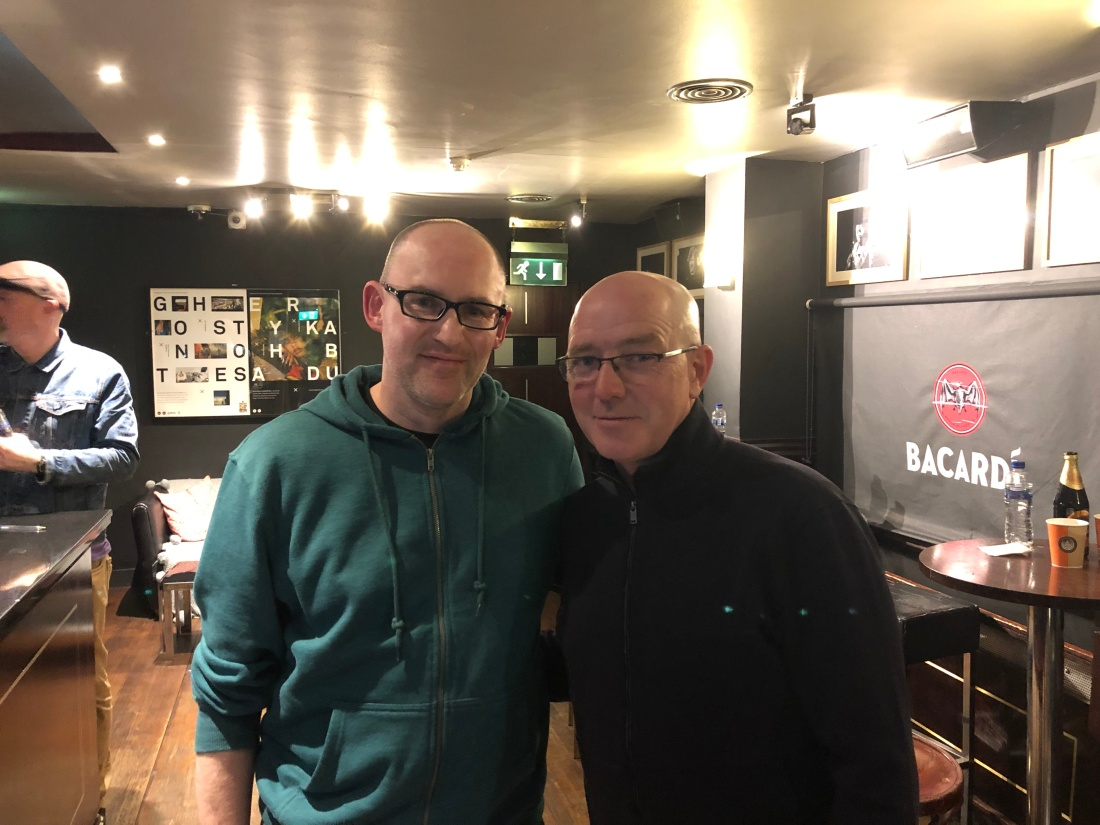 OTRT columnist Anthony Sullivan with ex-Oasis drummer Tony McCarroll (1)
